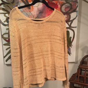 Rag and bone knit tan gold sweater small